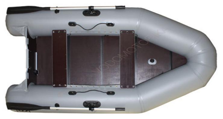 Надувная лодка Фрегат 280 ЕК серая