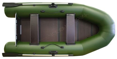 Надувная лодка Фрегат 300Е зеленая