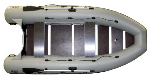Надувная лодка Фрегат М-430 серая