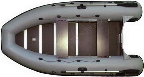 Надувная лодка Фрегат М-390 серая