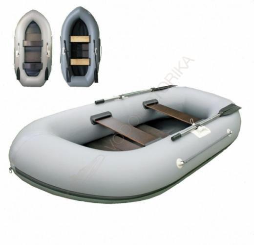 Лодка трехместная с транцем Stream Дельфин 2+