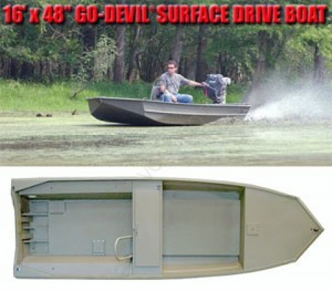 Лодка Go-Devil Surface Drive 16'x48SD""