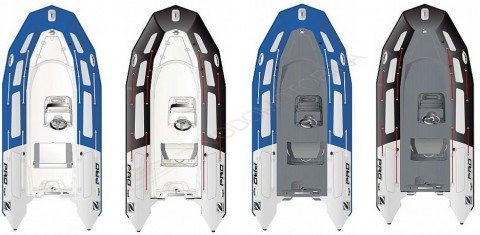 Надувная лодка ZODIAC PRO 500 TOURING PVC BLUE  LIGHT GREY TUBE - WHITE HULL
