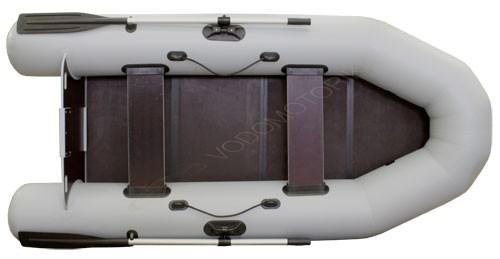 Надувная лодка пвх Фрегат 280 ЕS л/т (серая)