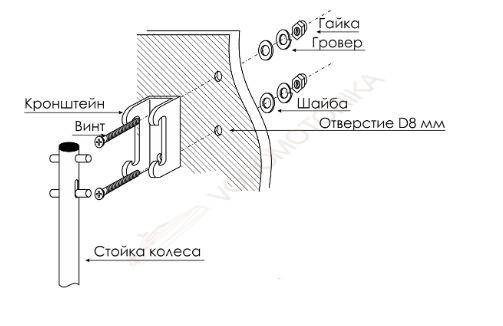 транцевые колеса на лодку пвх чертежи размер колес