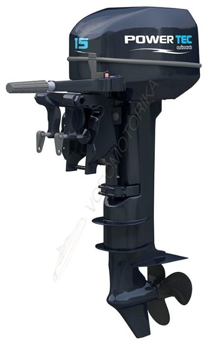 Лодочный мотор 2-х тактный POWERTEC T 15 AMHS