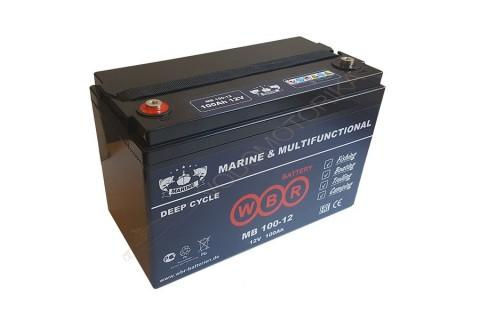 Cвинцово-кислотная аккумуляторная батарея WBR Marine MB 100-12 AGM