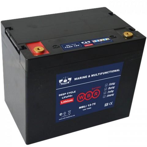 Литий-железо фосфатный аккумулятор WBR Marine MBLi 12-75