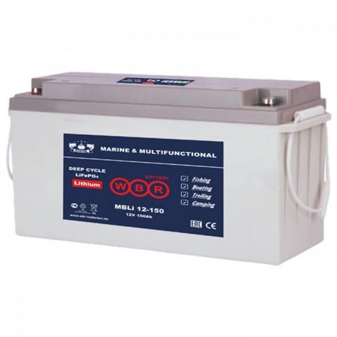 Литий-железо фосфатный аккумулятор WBR Marine MBLi 12-150