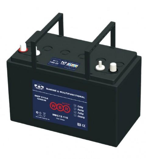 Свинцово-кислотный карбоновый аккумулятор WBR Marine MBC 12-105