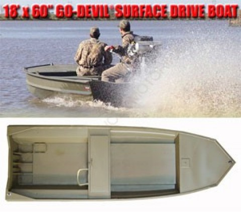 Лодка Go-Devil Surface Drive 18'x60SD""