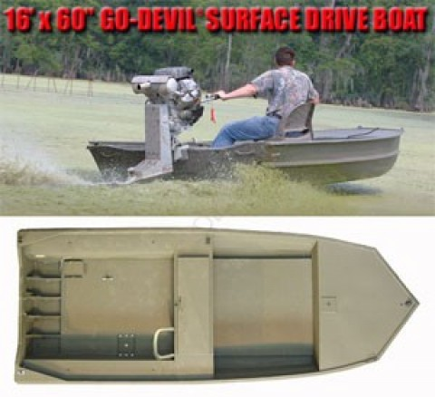 Лодка Go-Devil Surface Drive 16'x60SD""