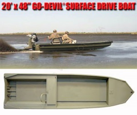 Лодка Go-Devil Surface Drive 20'x48SD""