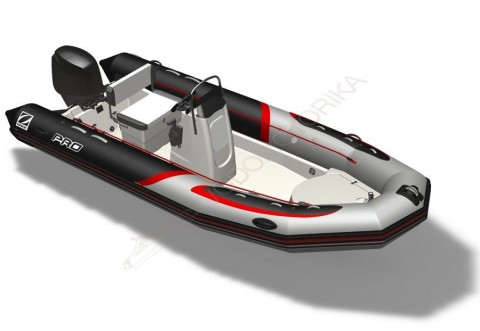 Надувная лодка ZODIAC PRO 500 TOURING PVC BLACK LIGHT GREY TUBE - WHITE HULL