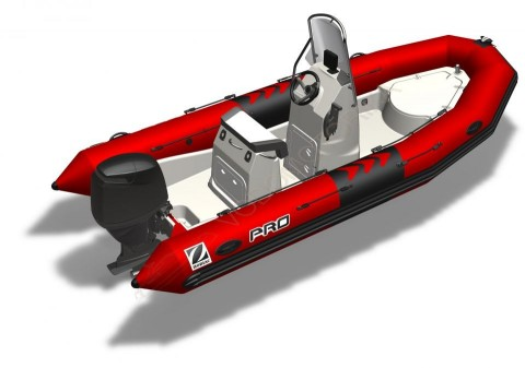 Моторная лодка Zodiac PRO 550 PVC RED TUBE - GREY HULL