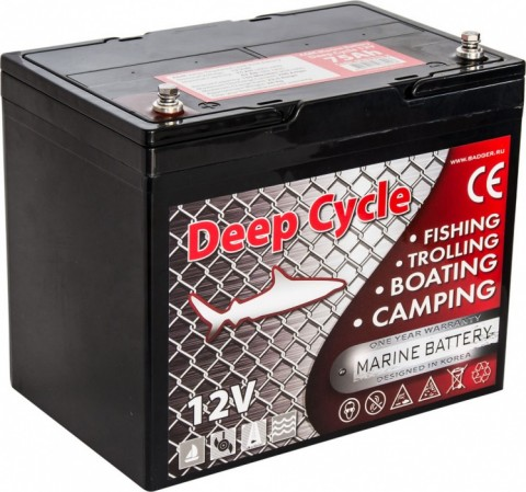 Аккумулятор глубокого разряда Marine Deep Cycle AGM 6FM75TD-X